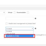 Adding extra stock option in Woocommerce