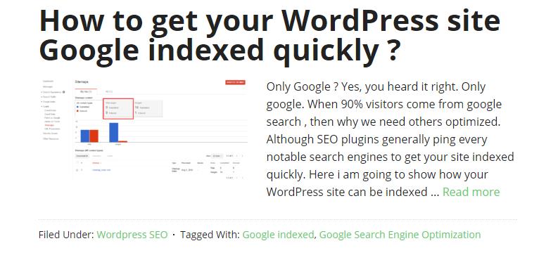 how to show post excerpt wordpress