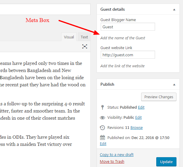 wordpress how to put a box in a page